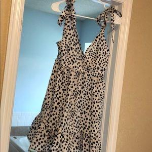 Dalmatian print cami dress